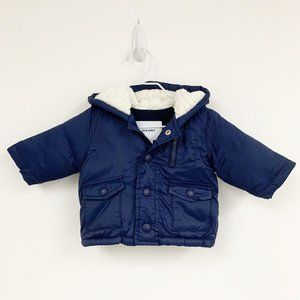 Old navy baby navy hooded puffer jacket Sz 0-3 M